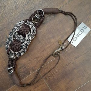 Chico's Ethnic Circles Bungee Belt NWT Size Small